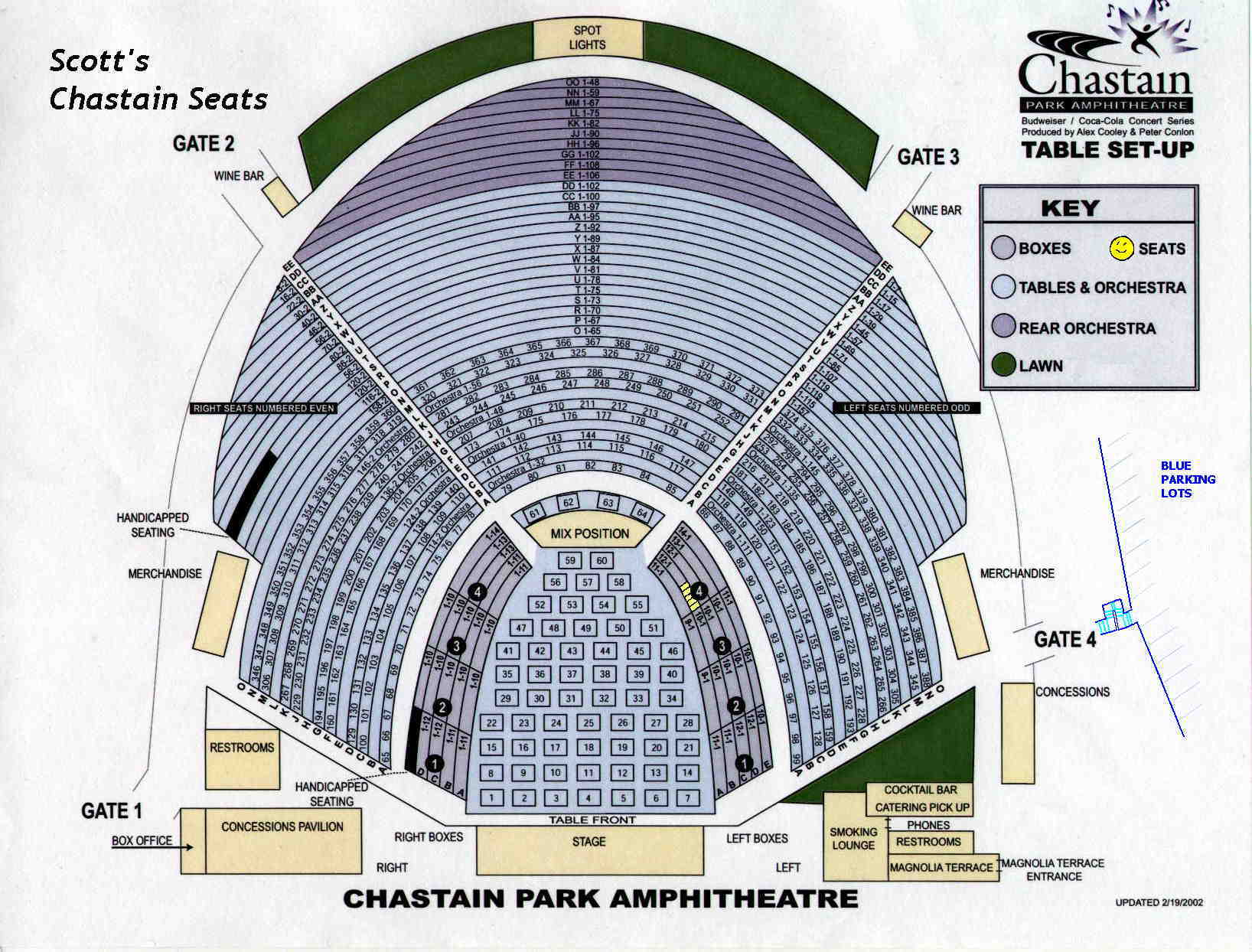 Chastain Park Amphitheater Seating Chastain Park